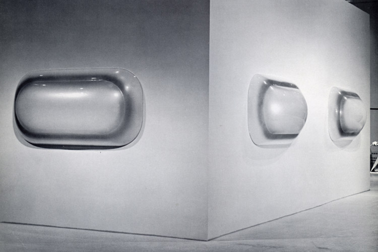 Installation view of 14 Sculptors: The Industrial Edge at Walker Art Center, 1969.