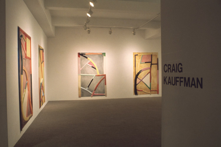 Installation view of Craig Kauffman exhibition at Pace Gallery, 1973