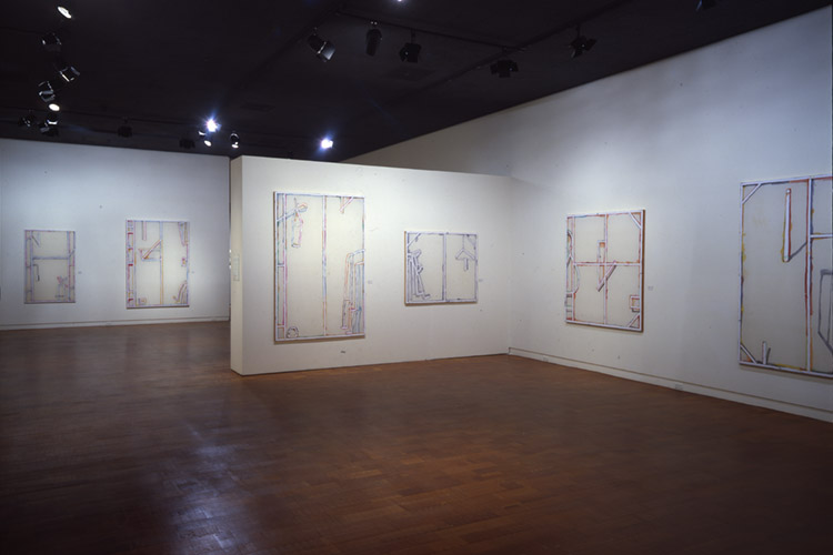 Instalaltion view of Craig Kauffman: Recent Paintings exhibition at the Arco Center for Visual Art, 1978
