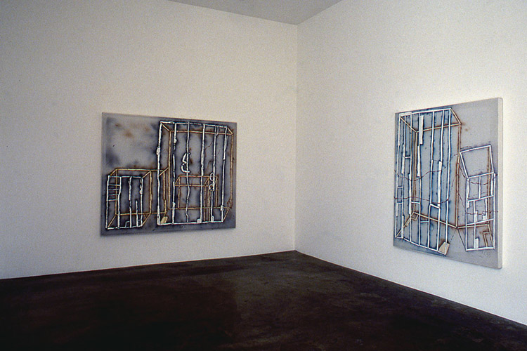 Instalaltion view of Craig Kauffman: New Paintings exhibition at Asher/Faure Gallery, 1988
