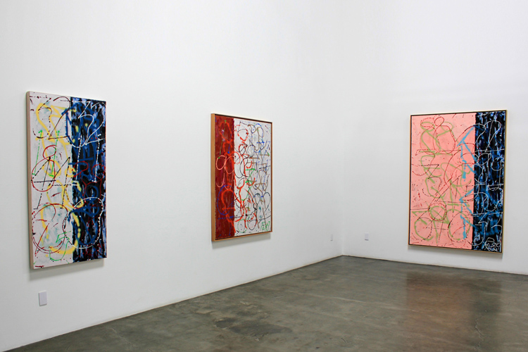Installation view of Craig Kauffman: Numbers Paintings 2012 Exhibition at Frank Lloyd Gallery